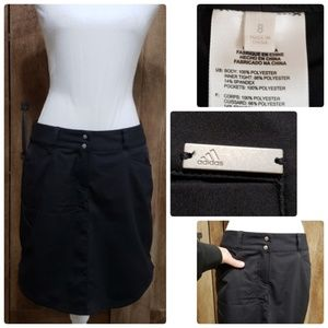 Adidas Black Skort Tennis Golf Womans 8